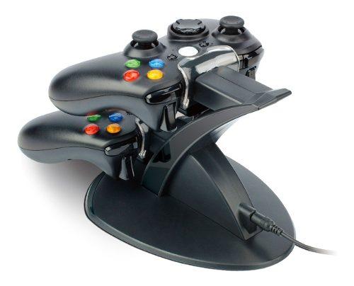 Promocion Kit Stand Base Recarga Cargador Controles Xbox 360