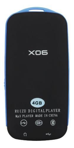 Ruizu X06 Reproductor Mp3 Y Mp4 Fm Radio Conexión Bluetooth