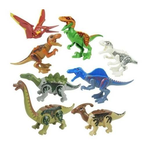 Set 8 Dinosaurios Para Armar Espinosaurio T Rex Velociraptor