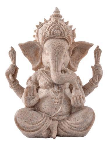 Arenisca Ganesha Con Una Figura Deidad Bien Modelado