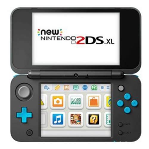 Consola New Nintendo 2ds Xl Negro Con Turquesa Nuevo