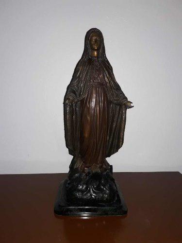 Escultura De Bronce Virgen Del Inmaculado Corazón De Maria