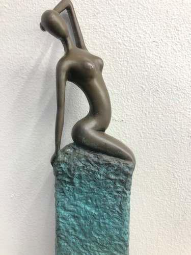 Escultura Decó Arte Moderno En Bronce Firmada: Aldo Vitaleh