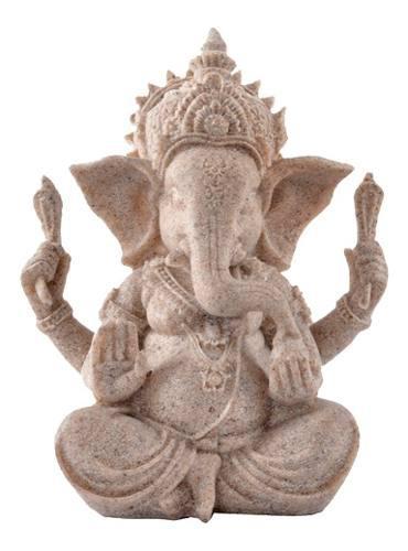 Estatua De Arenisca Ganesha Estatuilla Escultura De Buda