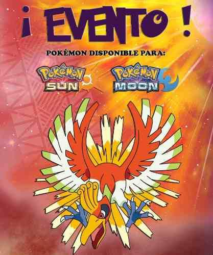 Ho-oh / Pokémon Yo Te Elijo! - Evento - Sol Luna 3ds