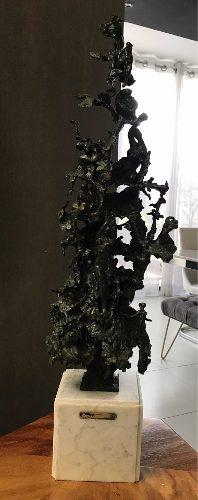 Impresionante Escultura Certificada Humberto Peraza Bronce