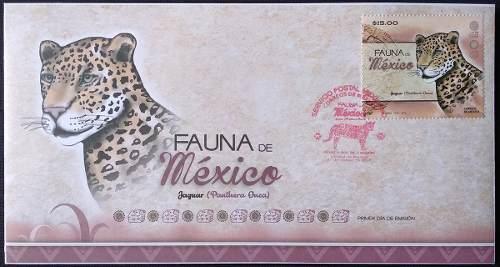 Mexico  Jaguar Fauna En Peligro Sobre Del 1er Dia Nuevo