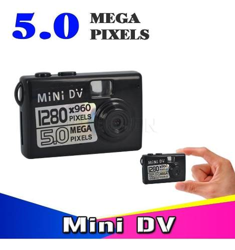 Mini Hd Dv Camara Video Grabadora De Audio Videocamara Negra