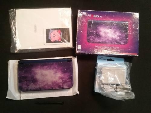 New Nintendo 3ds Xl Galaxy Con Caja Y Manual + Juegos