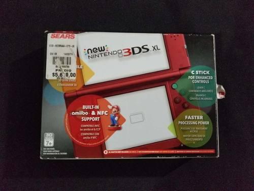 New Nintendo 3ds Xl Rojo Con Caja + Juegos Digitales