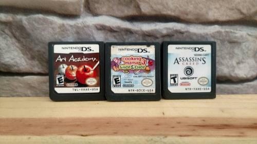 Pack De 3 Juegos Para Nintendo Ds Assassins Creedm Cooking M