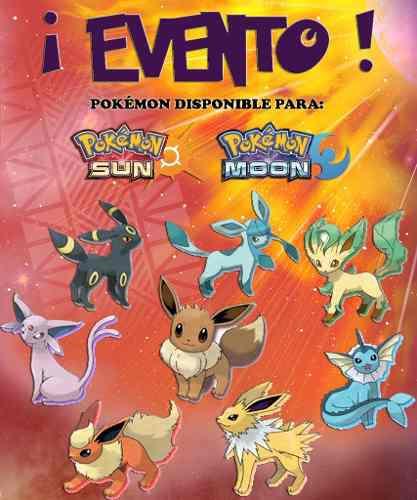 Pack Eeveelutions / Eevee - Eventos - Pokémon Sol Luna
