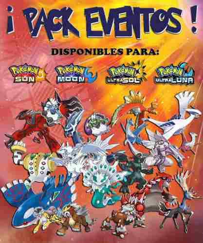 Pack Eventos Pokémon Leyendas 2018 - Ultra Sol & Luna 3ds!