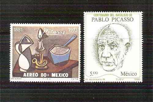 Picasso Pintor  Centenario Natalicio 2 Sellos Mnh