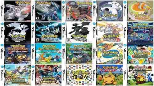 Pokemon Nintendo Ds, Todos Los Juegos Para Ds Black, White