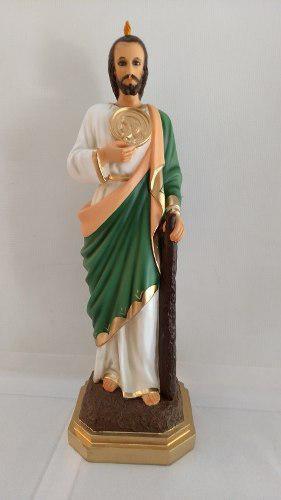 San Judas Tadeo De 54 Cm Resina Ojos De Vidrio