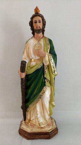 San Judas Tadeo De 55 Cm Elaborado En Resina Ojos De Cristal