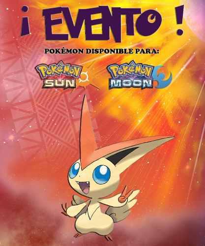 Victini / Tohoku - Evento - Pokémon Sol Luna 3ds