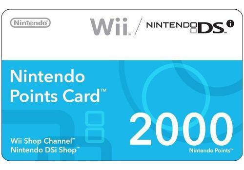 Wii Points Card (tarjeta De 2000 Puntos Para Wii Y Ds)