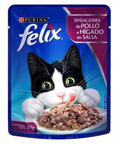 Alimento Gato Felix Sensación De Pollo E Hígado En