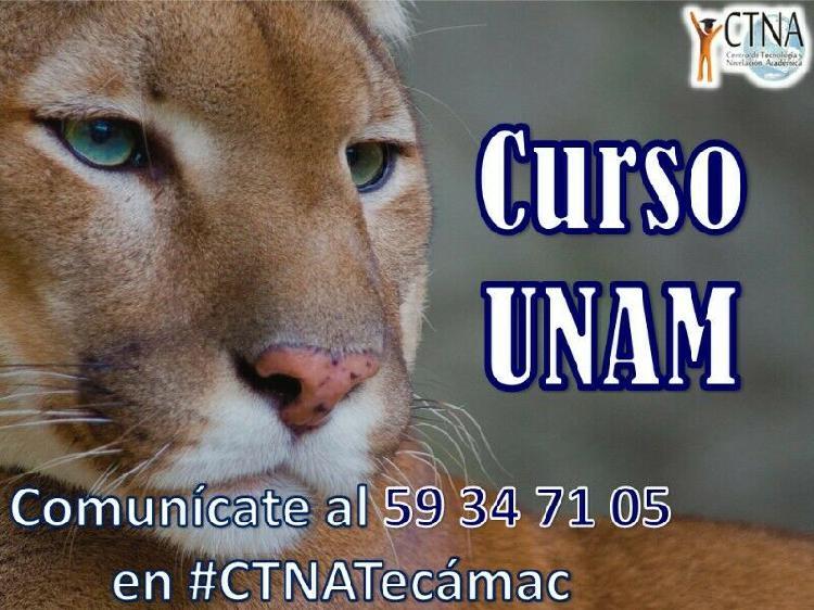 Curso de ingreso a la UNAM 2019 - 2020, en Tecámac Centro