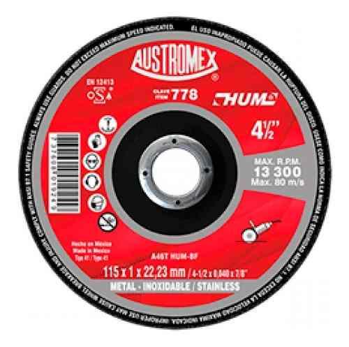 Disco Corte Metal Acero Inoxidable 4 1/2 Austromex 778