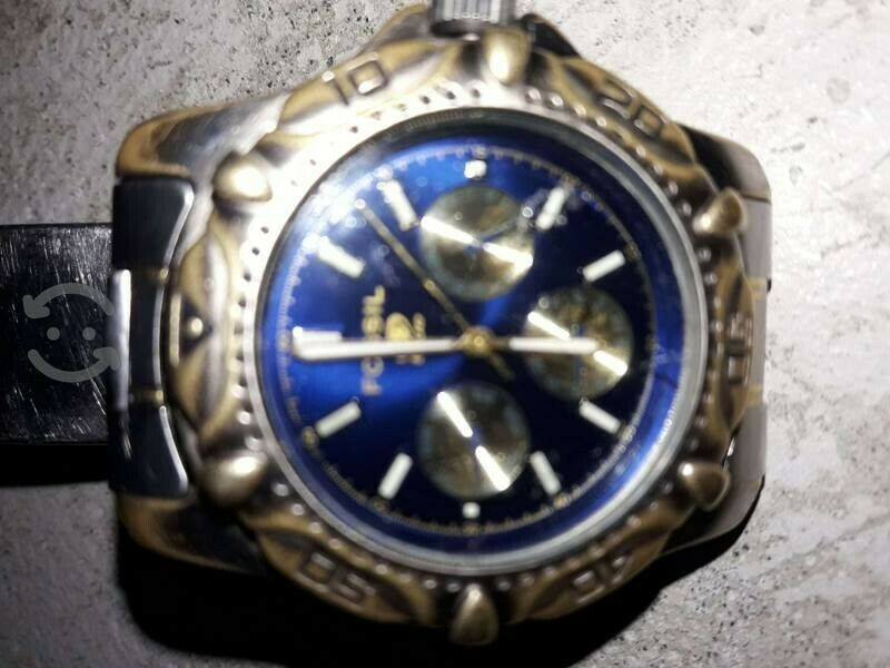 Reloj Fossil blue, 50 metros