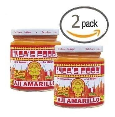2x Inca's Food Perú Pasta De Chile De Aji Amarillo 212.6g