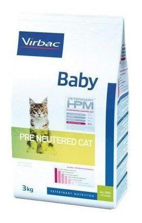 Alimento Baby Pre Neutered Hpm Para Gato De Virbac 3 Kg