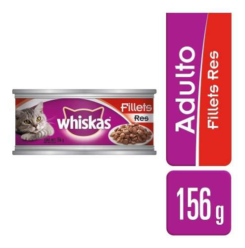 Alimento Para Gato Whiskas Pate De Res Lata 156 Gr
