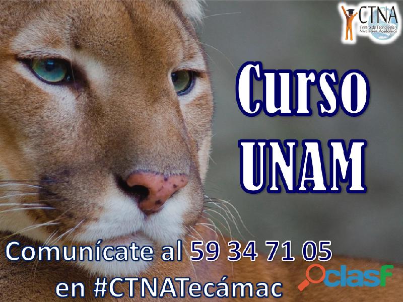 Curso de Ingreso a la UNAM, en Tecámac Centro