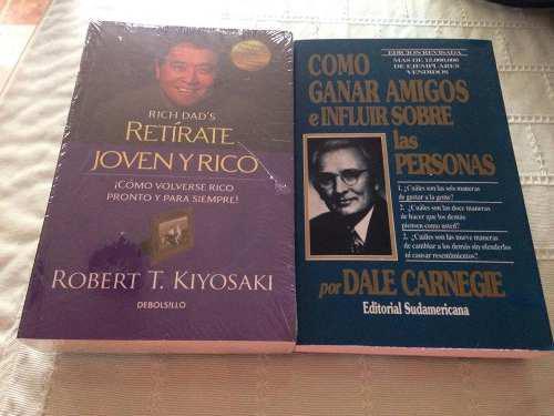 Libro Paquete De 2 Como Ganara Amigos-retirate Joven Y Rico