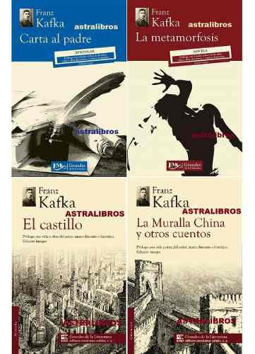 Paquete 4 Kafka Carta Al Padre Metamorfosis El Castillo Mura
