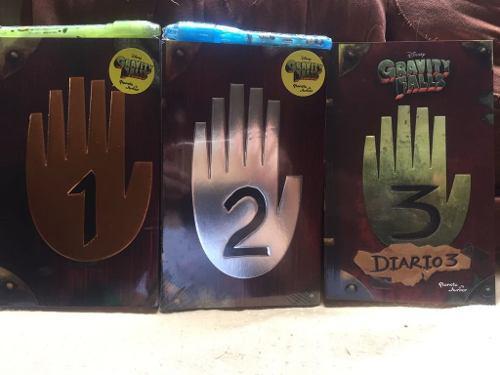 Paquete De 3 Libros Diario 1-2 Y 3 De Gravity Falls