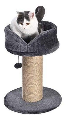 Poste Rascador Para Gato Con Cama De Plataforma, L