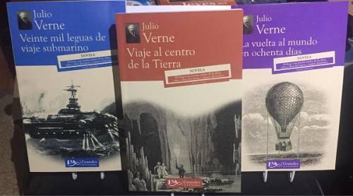 Viaje Al Centro De La Tierra + 2 Libros Julio Verne Pack