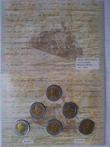 6 Monedas 5 Pesos Centenario De La Revolución  Nuevas