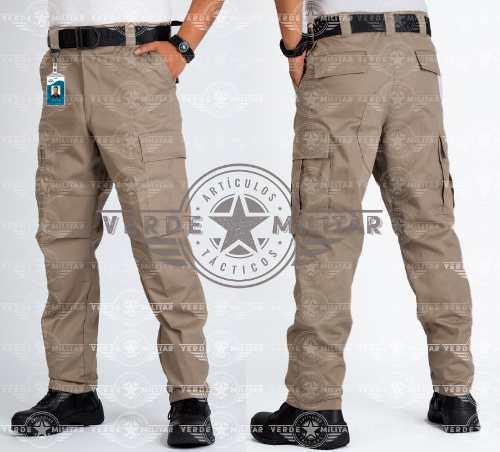 Pantalón Bolsas De Cargo Táctico Comando Otan Gabardina