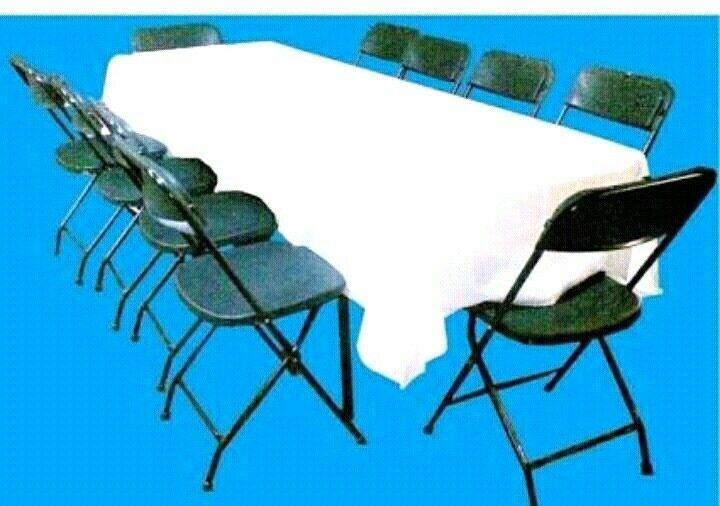Renta de mesas, sillas y demás