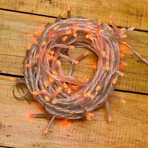 Serie Led Naranja Luces De Navidad Led 10m 100 Luces Fija