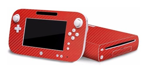 Skin Wii U De Vinil Fibra De Carbono Rojo ¡envío Gratis!