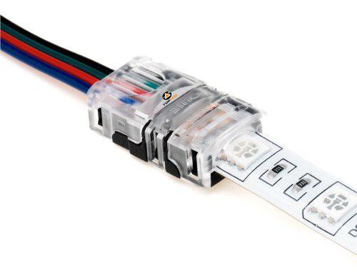 Conector Tira Led A Cable Clip Presión Sin Soldar @tl