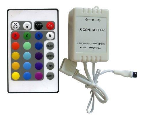 Controlador Tira Led Rgb Control 24 Botones 5050 3528 12v 6a