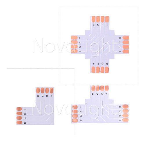 Kit 5pz - Conector Para Unir Tiras Led En Angulo Tipo L, T,