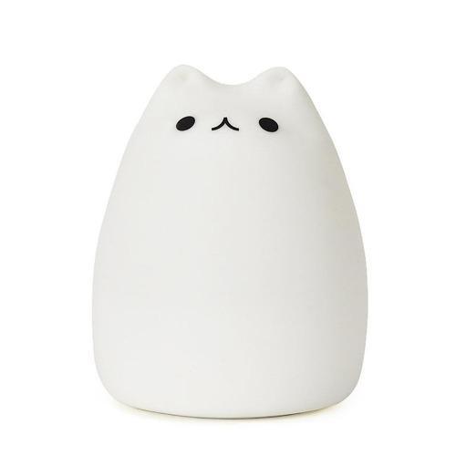 Lampara De Gato Recargable Rgb 7 Colores Kawai Silicon Suave
