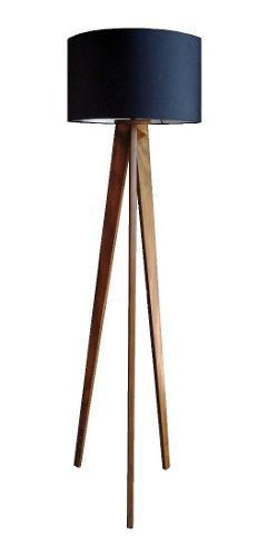 Lampara De Piso Minimalista Nordica Vintage Madera
