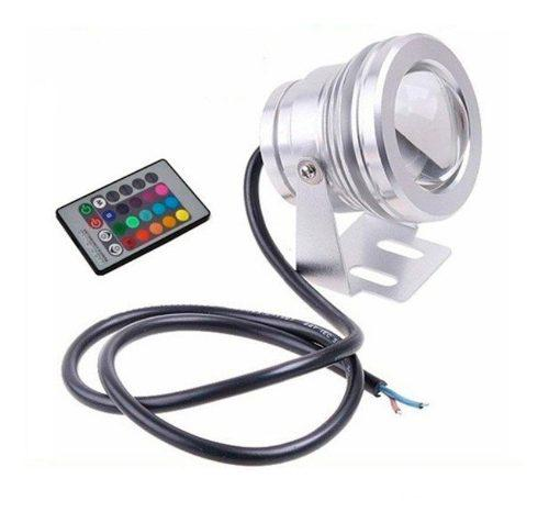 Lampara Led Rgb Sumergible Para Estanque O Fuente 10 W -12 V