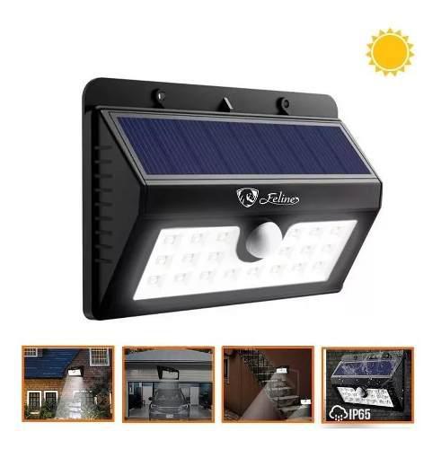 Lampara Solar 55 Leds Reflector Sensor Movimiento Automatico