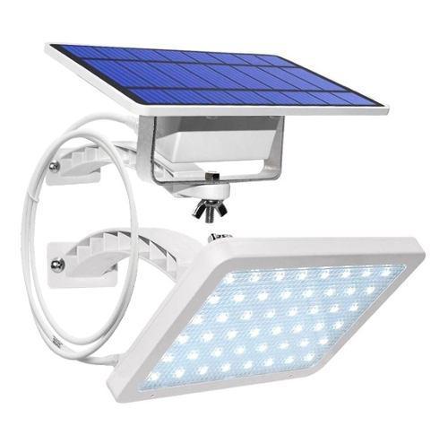 Lampara Solar Impermeable 48 Led Con Cable De 3 Metros