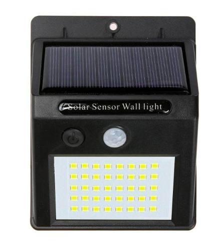 Lampara Solar Sensor De Movimiento 40 Leds Resiste Agua